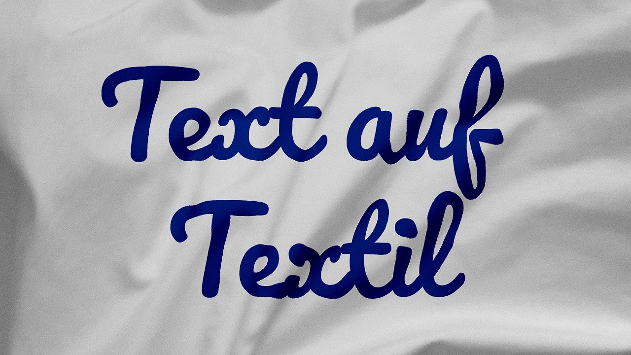 Text realistisch auf Textil/Stoff abbilden – Photoshop-Tutorial
