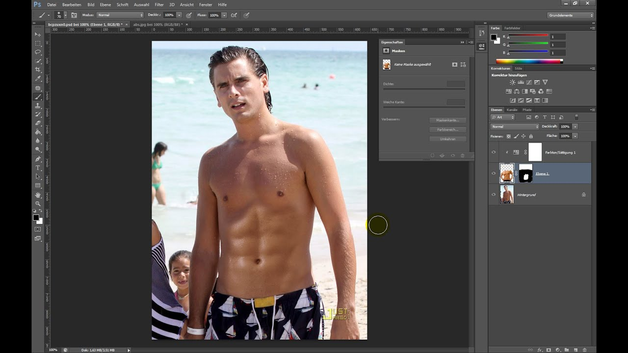 Sixpack erstellen – Photoshop-Tutorial