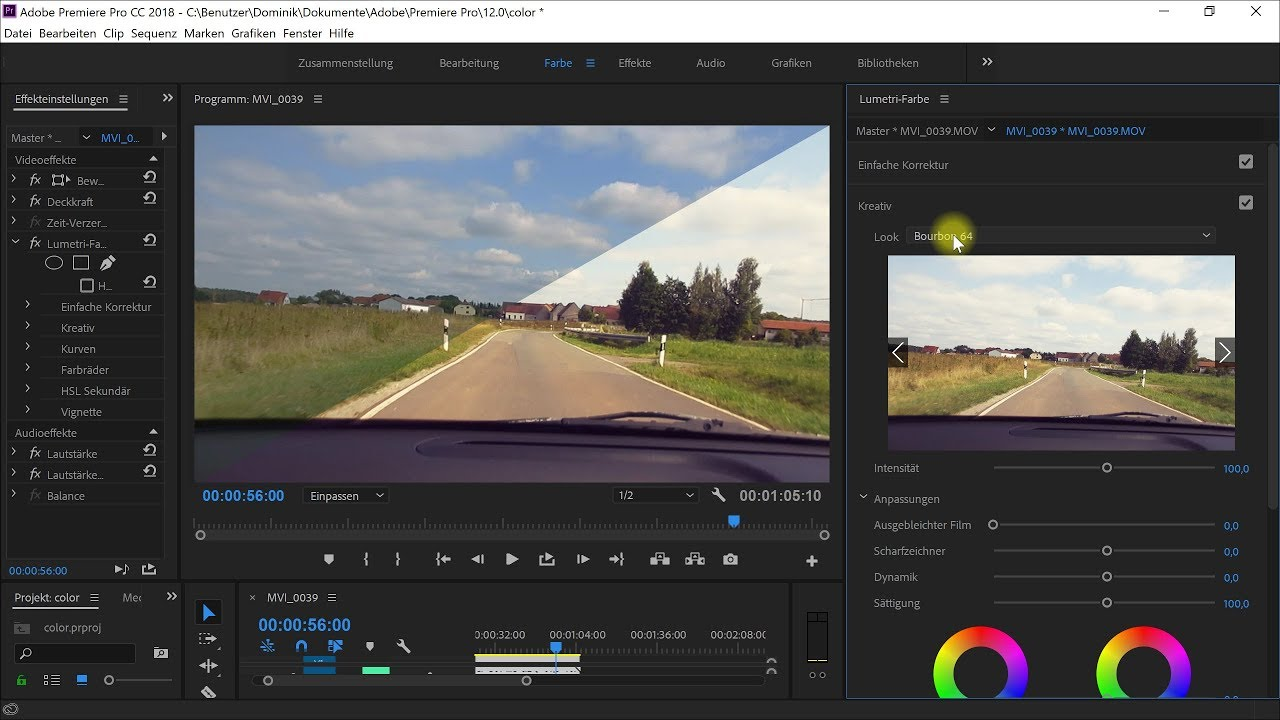 Farbkorrektur (Color Correction) und Farbanpassung (Color Grading) – Premiere-Pro-Tutorial