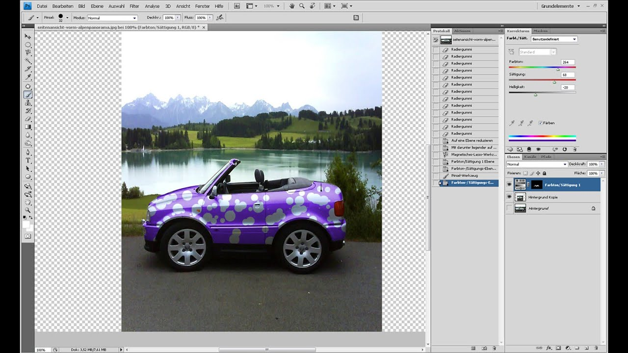 Lustiges Minicar erstellen – Photoshop-Tutorial